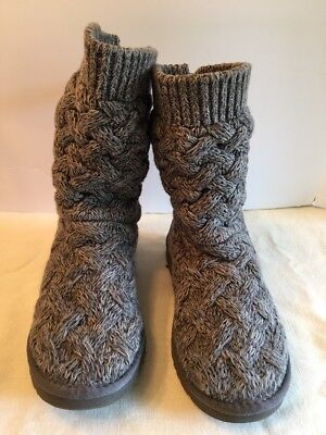 Ugg Classic Cardy Grey Snow Knit Winter Boots Womens Boots Size 7