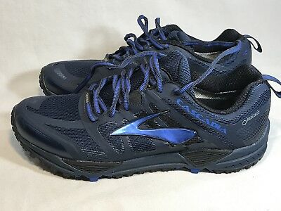 4e6e5ab1787cd BROOKS CASCADIA 11 Shoes Men s Trail Running Hike Cross Train Navy ...