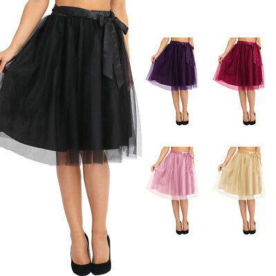 Women Girls 3 layers Tutu Skirt Tulle Skirts Adult Tutu Evening Party Ball Gown