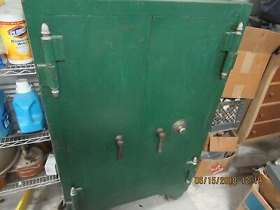 Large Antique  Floor Standing Safe