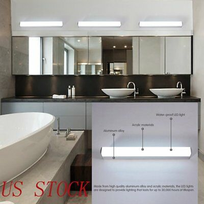 Modern Bathroom Toilet Vanity Wall Makeup Light Mirror Front LED Lamp Lights USA