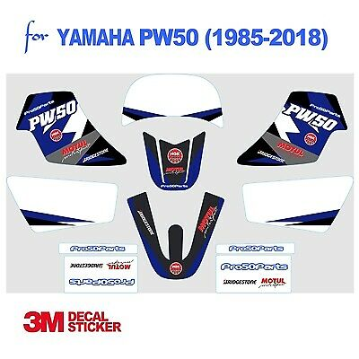 Yamaha PW50 Blue Decal Sticker Graphics 3M professional Vinyl Decal