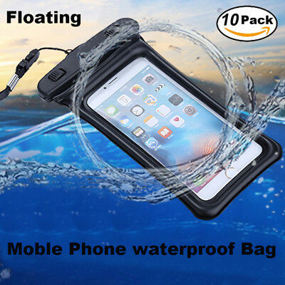 promo code b911b bd6bd 10X FOR IPHONE X 5 6 6S 7 8 Samsung S8 Waterproof Phone Pouch Dry Bag Case  Float