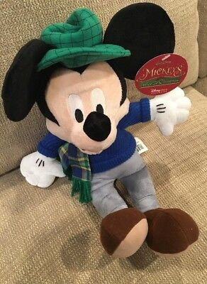 14 disney mickey mouse twice upon a christmas stuffed animal plush toy doll new - Mickey Mouse Twice Upon A Christmas