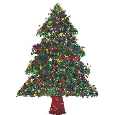 """F C Young 18"""" 2D Green Tinsel Tree 18W-TREE Pack of 6"""