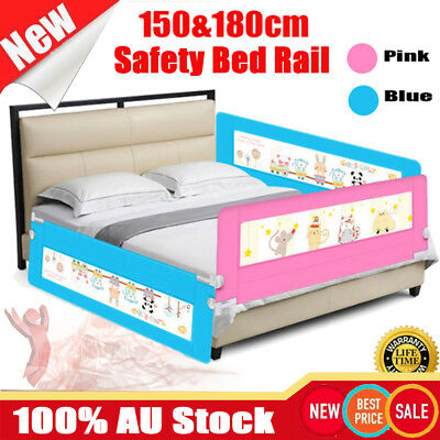 1/2Pcs 150CM 180CM Safety Bed Rail Cot Guard Protection Child Toddler Kid Fold