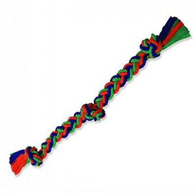MAMMOTH - Braided 4X Rope 3 Knot Tug Dog Toy - 26 Inches