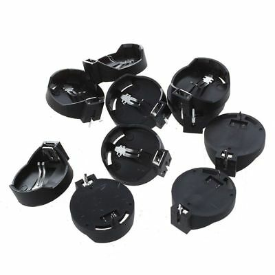 10pcs Black Round Button Battery Holder Case for CR2032 2016 2025 K L9V6
