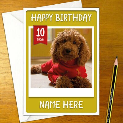 WAFFLE THE WONDER DOG Personalised Birthday Card - A5 cbeebies bbc kids cute