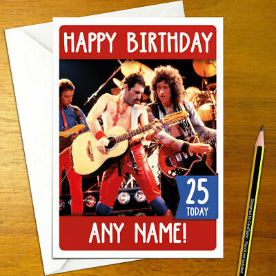 THE WHO Personalised Birthday Card A5 british english rock and roll