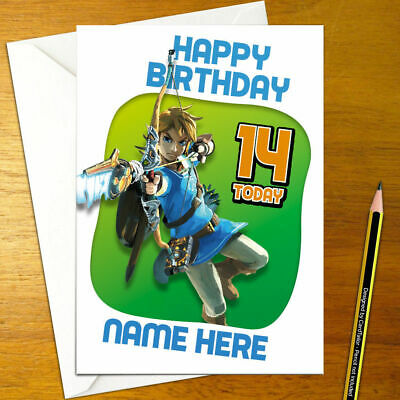 Breath Of The Wild Personalised Birthday Card A5 Nintendo Legend
