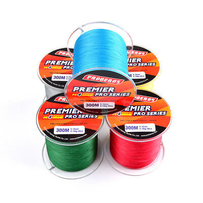 300M Super Strong PE Four Strand Braided Fishing Line Abrasion Resistance
