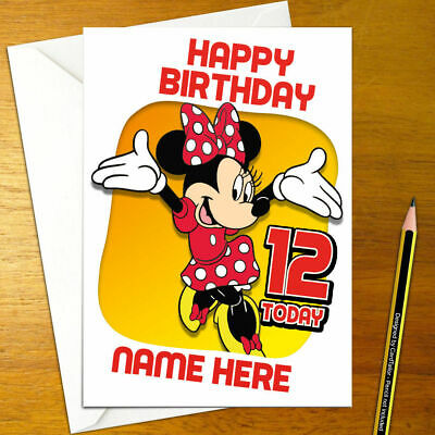 MINNIE MOUSE Personalised Birthday Card