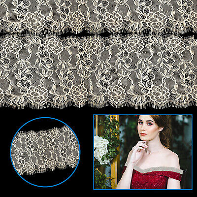 3 Meter Vintage Style Lace Beige Scalloped Edge Eyelash Trim for Fashion L29
