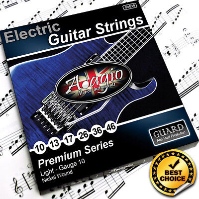 AntiRust Electric Guitar Strings Gauge 10-46 By Adagio