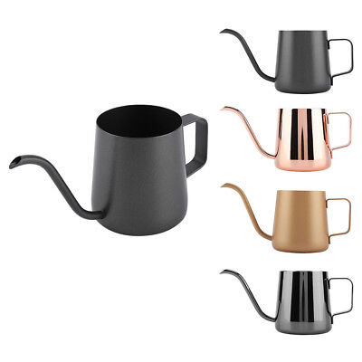 350ml Stainless Steel Gooseneck Kettle Pour Over Coffee Tea Home Hand Drip Pot
