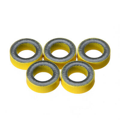 5Pcs Set Yellow Micrometals T50-6 Iron Powder Toroidal Core RF Toroid HF HAM QRP