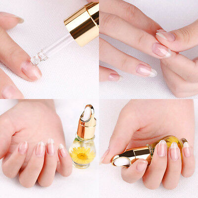 1 PCS Mix Taste Dried Flowers Cuticle Oil Pen Nail Art Care Treatment Manicure