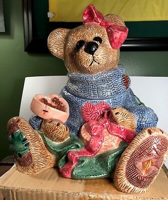 Retired Boyds Bears Ceramic Bailey's Low Fat Cookie Jar Le #1569 New