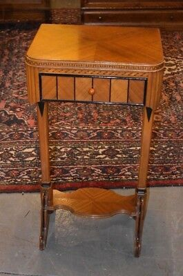 Antique Art Deco Waterfall Style End Side Table Stand Vintage Bedroom Nightstand