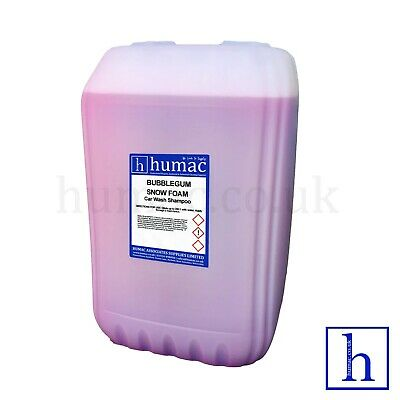 BUBBLEGUM HI FOAM SNOW FOAM SHAMPOO 25 Litre Drum Car Vehicle Wash 25L HUMAC