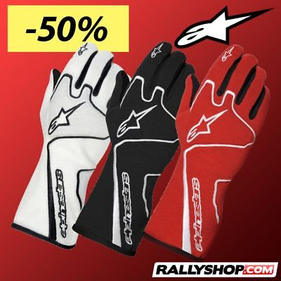 ALPINESTARS TECH 1-Race FIA Racing Gloves Black, White, Red race CLEARANCE SALE!
