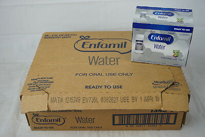 (Case of 48) Enfamil Water Sterile 2 oz Ready-to-Use (Oral Use Only) EXP 04/2019