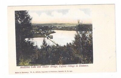 NH Enfield New Hampshire antique post card Mascoma Lake & Enfield Village