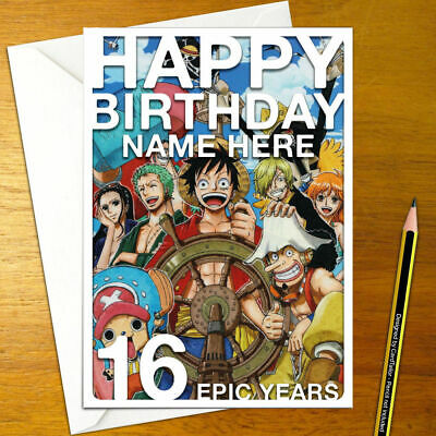 ONE PIECE Personalised Birthday Card