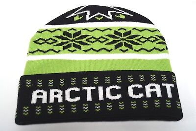 Arctic Cat Snowmobile Throwback Green Snowmobile Adult Beanie Hat 5293-710