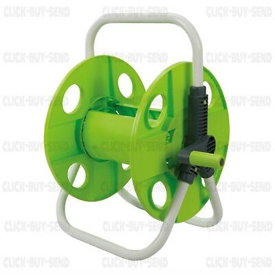 SILVERLINE LIGHTWEIGHT PORTABLE Hose Pipe Trolley Cart Reel Garden Hosepipe