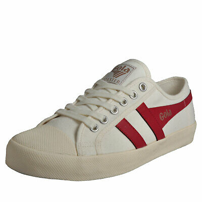 Gola Classics Coaster Mens Casual Vintage Retro Plimsols Trainers Off White