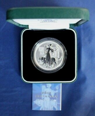 2001 Royal Mint 1oz Silver Proof Britannia £2 coin in Case with COA   (M6/3)
