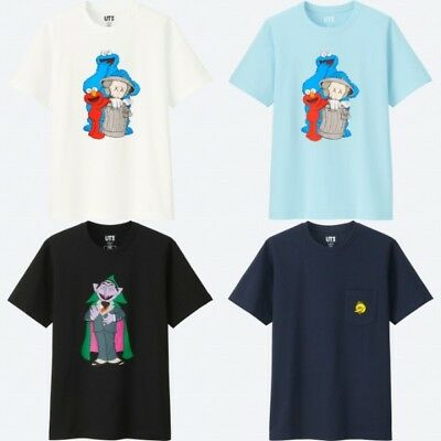 KAWS & UNIQLO Sesame Street Elmo Cookie Monster BIG BIRD Count Von Count 3XL XXL