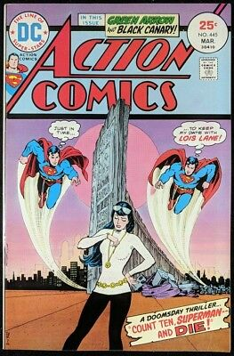 Action Comics (1938) #445 VF- (7.5) Superman Flash #123 cover swipe