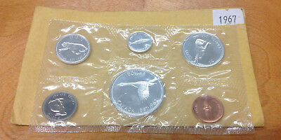 1967 Canadian 6 Coin Proof Like Set In Plastic With Outer Envelope
