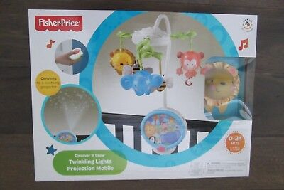Fisher Price Discover Grow Twinkling Lights Projection Musical Mobile