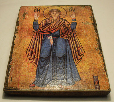 Handmade copy ancient ORTHODOX CHURCH ICON Mother Theotokos Oranta 184L