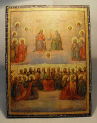 Handmade copy ancient ORTHODOX ICON of Jesus Christ All Saints icon 192M