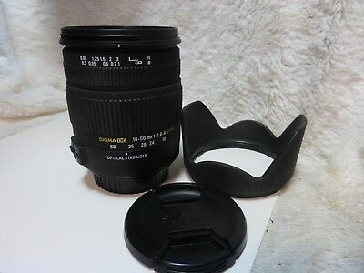 Sigma Zoom 18-50mm f/2.8-4.5 DC OS HSM Lens Optical Stabilizer fits Canon camera