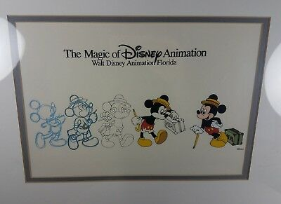 The Magic of Disney Animation TRAVELING MICKEY MOUSE  Walt Disney Animation Cel