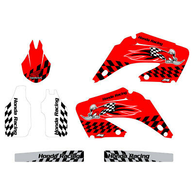HONDA CR125 CR250 2002-2012 Woody graphics kit red highlight FREE  SHIPPING!!!
