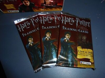 3 Packs Sealed Harry Potter and the Goblet of Fire Trading Cards