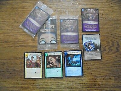 3 Promos plus 2 Ad cards from Harry Potter Base/Quidditch TCG set,Super Cool!