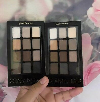 2 - Glam & Beauty Nudes 12 Color Eye Shadow Pallettes Makeup Cosmetics Fashion