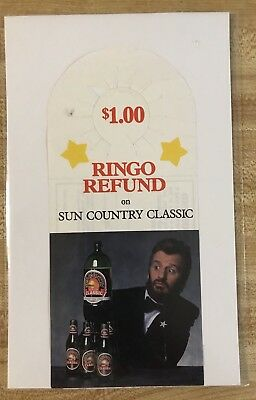Ringo Starr Country Sun Classic Wine Cooler Refund Ad