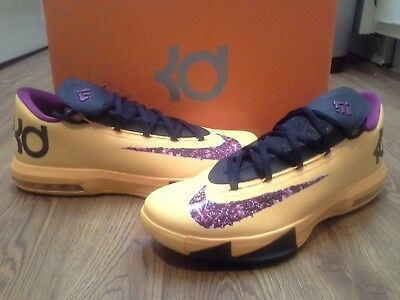f1d05848b22 VNDS Nike KD VI 6 PB J Peanut Butter   Jelly Yellow Orange 599424-801 EUC