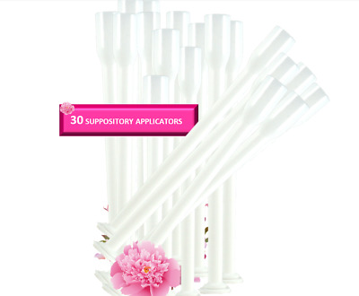 Vaginal Suppository Applicators | 30 Counts | Individually Wrapped | Reuseable
