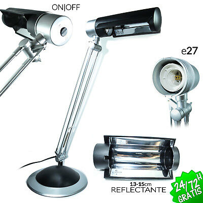 Flexo Base Arquitecto E27 Lampara De Mesa Flexible Escritorio Despacho Desk Lamp