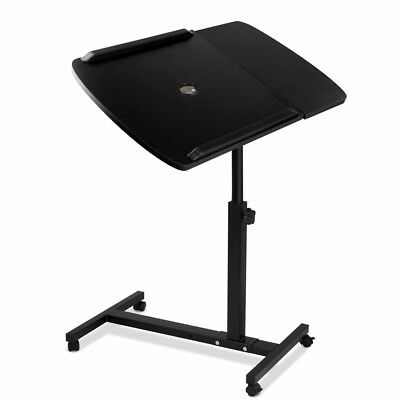 Mobile Laptop Desk Adjustable Notebook Computer iPad Stand Table Bed Tray @TOP